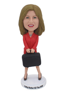 Custom Female Business Bobblehead Corporate Gifts Groupon Get More Discount - Abobblehead.com
