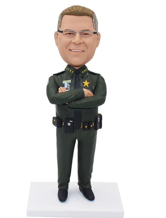 Custom Sheriff Bobbleheads From Photo, Custom Policeman Bobbleheads - Abobblehead.com
