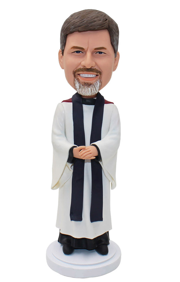 Personalized Priest Bobblehead, Custom Bobblehead Clergy Doll - Abobblehead.com