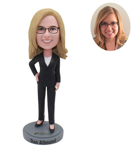 Custom Girl Bobbleheads Office For Boss, Colleague, Friend, Manager - Abobblehead.com