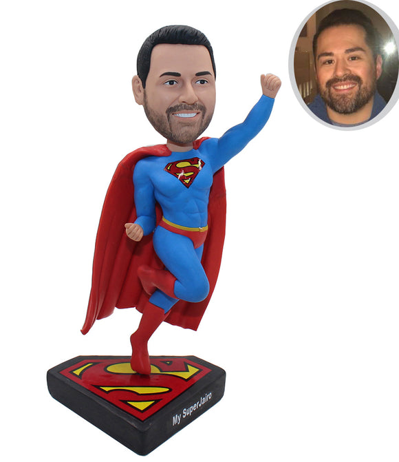 Custom Bobbleheads Superman, Personalized Superman Action Figure From Your Photos - Abobblehead.com