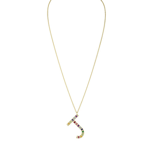 Tuyo Rainbow Initial Necklace