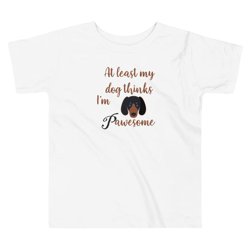 Pawesome Toddler Short Sleeve Tee