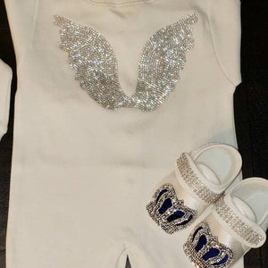 Royal Blue angel wings outfit