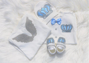 Baby blue angel wings outfit