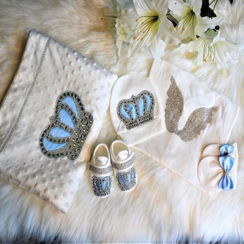 Baby Blue Outfit and Blanket