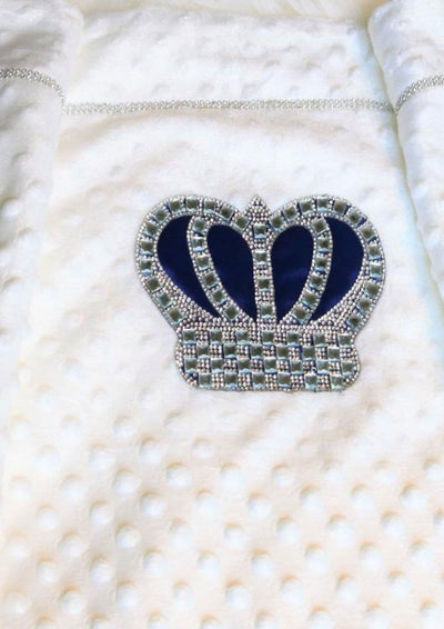 Royal blue crown blanket