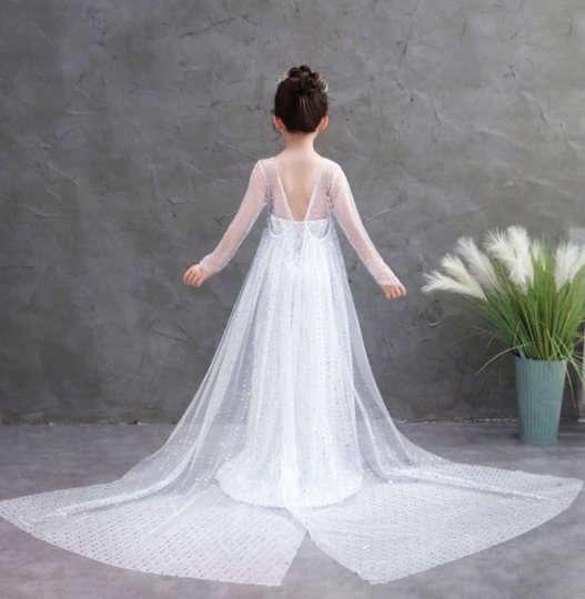 Long White Princess Dress