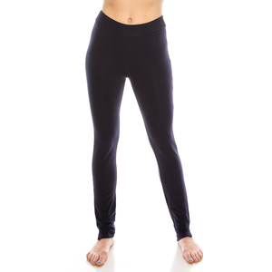 Urban Diction 2 Pack Full-Length Cotton Stretch Leggings (Black-Blue)