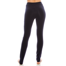 Load image into Gallery viewer, Urban Diction 2 Pack Full-Length Cotton Stretch Leggings (Black-Blue)