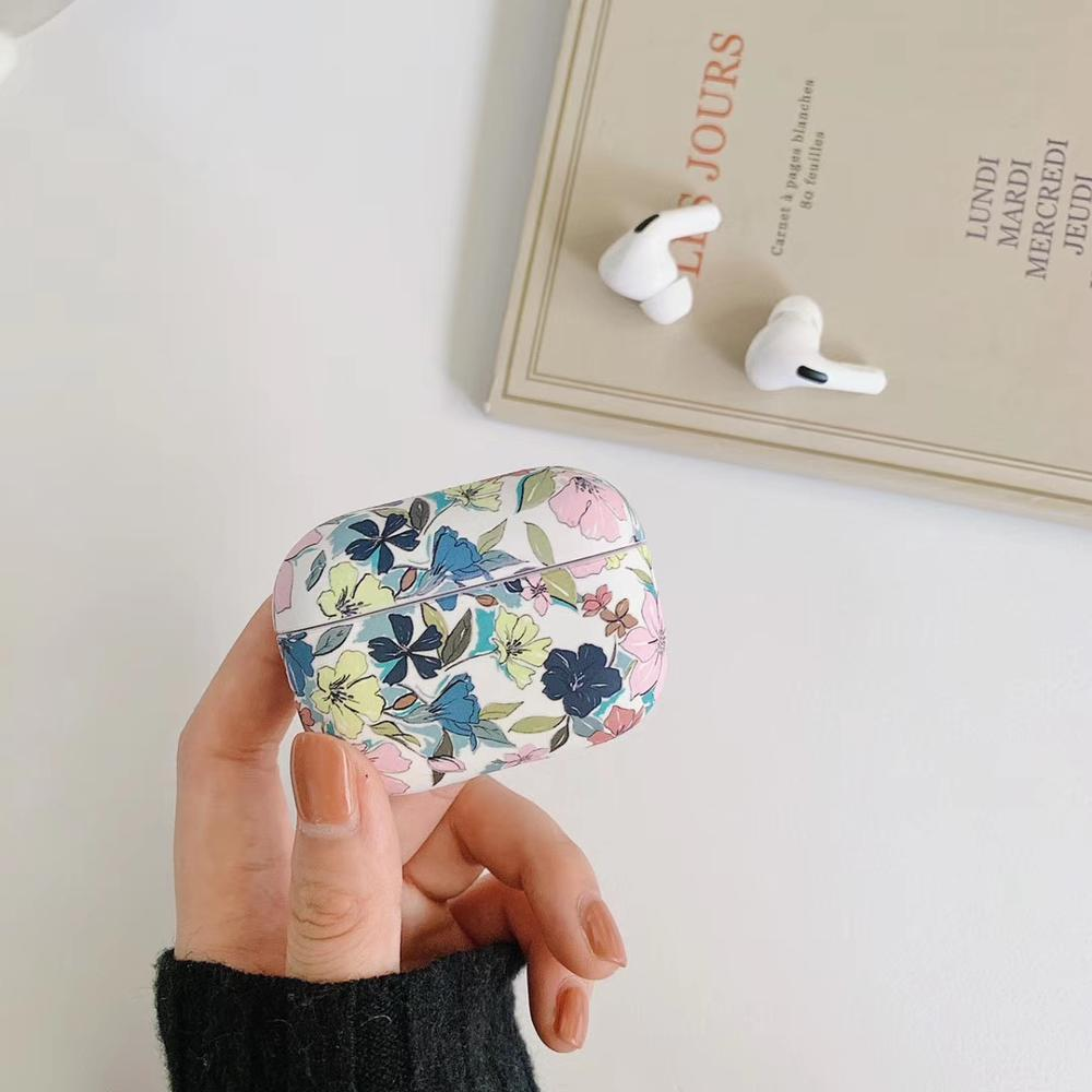 For AirPods Pro Case Fashion Luxury Marble Flower Pattern Earphone Cover For AirPods 3 Glossy IMD Print Hard PC Protect Case