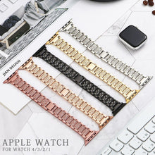 Load image into Gallery viewer, Band + Case Metal Strap For Apple Watch  Series 5 Strap 40mm 44mm Diamond Ring 38mm 42mm Stainless Steel Bracelet iwatch 4/3/2/1