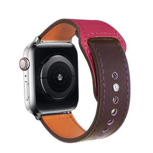 Genuine leather strap for apple watch band 42mm 38mm loop watchband for iwatch 44mm 40mm 5/4/3/2/1 bracelet accessories - shopsatang.com