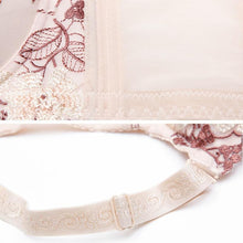 Load image into Gallery viewer, Sexy High Quality Women Print Bra set Silk Lace Flower Push up Big size Underwear Bow Bra and Hollow out Panties