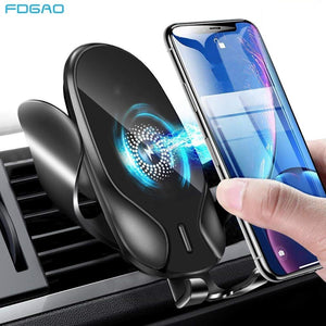 15W Qi Wireless Car Charger For iPhone 11 XS Max X 8 XR 10W Fast Wireless Charging Car Phone Holder For Samsung S10 S20 Note 10