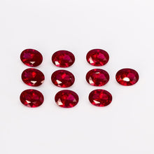Load image into Gallery viewer, 10-10.5ct Loose Gemstone High Quality 12x16MM Oval Ruby Stones DIY Decoration Jewelry Accessories Gifts 5 pcs/set Wholesale