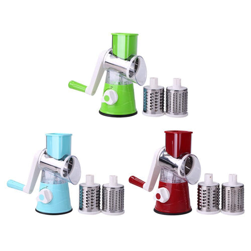Manual Vegetable Cutter Slicer Multifunctional  Vegetable Fruit Round Mandoline Slicer Potato Cheese Household Kitchen Gadgets
