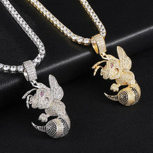 Load image into Gallery viewer, D&Z Hip Hop Bee Necklace For Women Men Gold & Silver Iced Out Cubic Zircon Micro Paved Fashion Jewelry