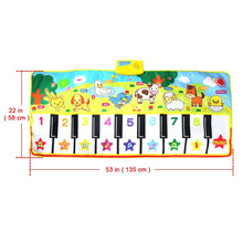 Load image into Gallery viewer, 135X58CM Large Size Musical Mat Baby Animal Theme Educational Learning Toy Children Baby Toy  Infantil Playing Type Music Mat (1 pcs)