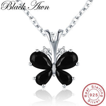 Load image into Gallery viewer, Butterfly Romantic Arrive 925 Sterling Silver Fine Jewelry Trendy Flower Engagement necklaces & pendants for Women K016