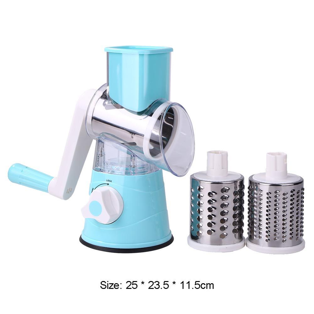 Manual Vegetable Cutter Slicer Multifunctional  Vegetable Fruit Round Mandoline Slicer Potato Cheese Household Kitchen Gadgets - shopsatang.com