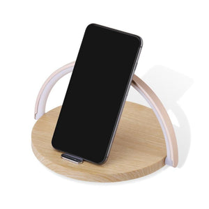 Wireless Fast Charger Table Lamp Night Light Phone Holder  for iPhone Samsung night light mobile phone Adjustable holder