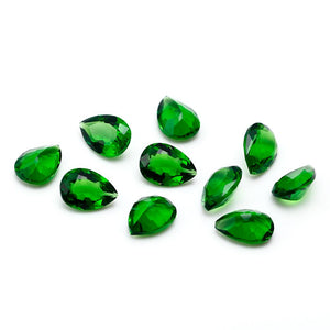 Nano Stone Double-Sided Cutting Pear Shape 8X11MM 5 DIY Bare Beads Stone Jewelry Accessories Quality Gem Gift Decoration - shopsatang.com