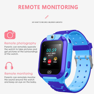 New S16 Smartwatch Touch Screen Kids Watch Camera Tracker Bracelet Waterproof Positioning Call Children Alarm SOS Smart Watch