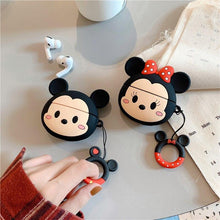 Load image into Gallery viewer, 3D Earphone Case for Airpods Pro Case Cute Silicone Cartoon Headphone/Earpods Cover for Apple Air Pods 3 Pro Case with Keychain