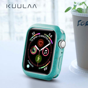 KUULAA Bumper for Apple Watch Series 5 4 3 2 1 PC Case For Apple Watch Thin Protector Case Frame 40 44 38 42 mm case band