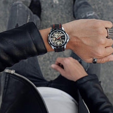 Load image into Gallery viewer, WINNER Official 2019 New Fashion Men Automatic Mechanical Watches Luxury Brand Skeleton Luminous Hands Rubber Strap Sport Clock