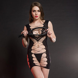 CINDYLOVE Sexy Lingerie Women's Hot Erotic Underwear Babydolls Sexy Dress For Sex Costumes Clothes Porno Baby doll Female Black - shopsatang.com