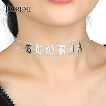 Load image into Gallery viewer, DOREMI 2019 Old English Numbers Necklace Name Custom Choker Personalized Letter Necklace for Girl Gothic Chic Jewelry for Etsy