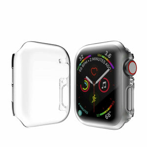 Full Coverage Case For Apple Watch Series 5 Series 4 40mm 44mm Cover Shell For iWatch Screen Protector Film Case - shopsatang.com