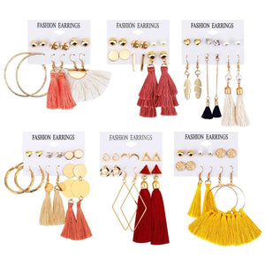 brincos para as mulheres Fashion Women Jewelry Earrings Eardrop Girls Tassel Dangle Earrings 36 Pair Earrings For Women (Multicolor)