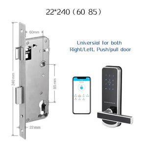 TTlock Bluetooth WiFi Smart Electronic Door Lock Keypad Smart Door Lock For Home Airbnb House Apartment with App Remote Control - shopsatang.com