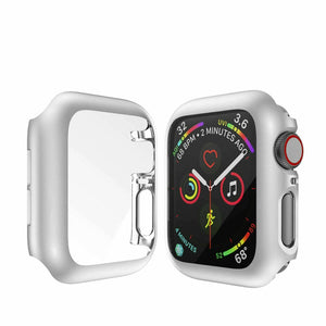 Full Coverage Case For Apple Watch Series 5 Series 4 40mm 44mm Cover Shell For iWatch Screen Protector Film Case