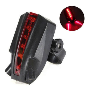 Bike Light Creative Practical Cycling Sporting Goods Laser Road Projection Safety Warning LED Bicycle Taillights