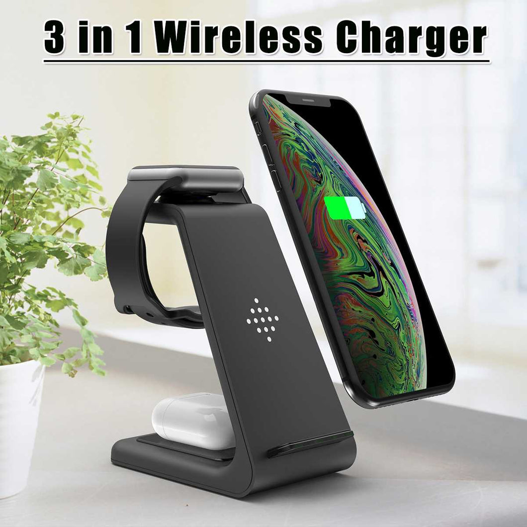 QI 10W Fast Charge 3 In 1 Wireless Charger For Iphone 11 Pro X XS MAX 8 8 Plus for Apple Watch Pro For Samsung