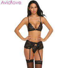 Load image into Gallery viewer, Avidlove Babydoll Sexy Mujer Bra Porn Hollow Sexy Lingerie Set Women Hot Erotic Women Lenceria Underwear Costumes