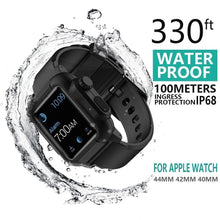 Load image into Gallery viewer, Waterproof case For Apple Watch band 4 iwatch bands 42mm Silicone Strap 44mm 40mm pulseira Bracelet smart watch Accessories loop
