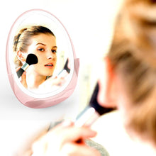 Load image into Gallery viewer, 10W Touch Dimming Fill Light Makeup Mirror Wireless Charger Band Light Beauty Vanity Mirror maquillage Mirror with Light