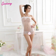 Load image into Gallery viewer, Sexy Lace Women Sleeveless G-string Transparent Babydoll Underwear Dresses Nightgown Lingerie Sleepwear Chemise Dress - shopsatang.com