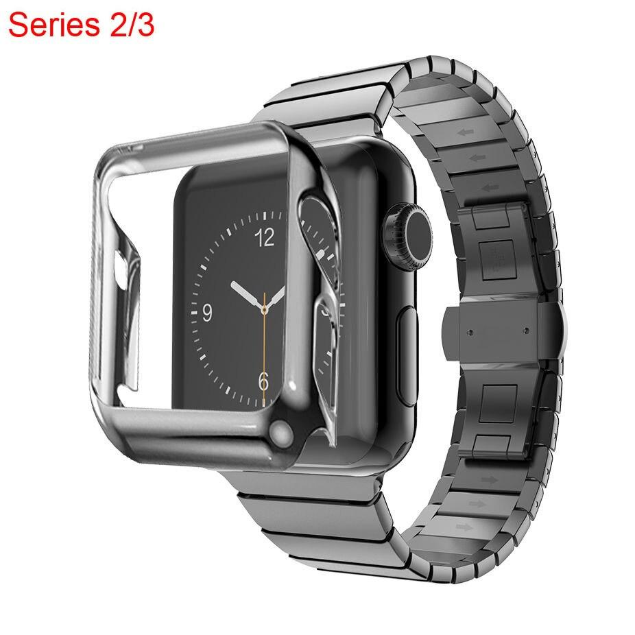 Gold Plating Protective Case Cover + Stainless Steel Band for Apple Watch Series 2 3 Strap For iWatch Bracelet Wristband 38/42mm - shopsatang.com