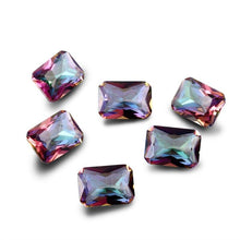 Load image into Gallery viewer, NASIA Mysterious Rainbow Created Stone Beads Spinel Zircon Drop Square Rectangle Oval Loose Gemstone for Ring Jewelry DIY 10 Pcs