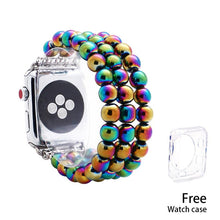 Load image into Gallery viewer, Lureen Elastic Apple Watch Band 38/40/42/44mm, with Free Watch Case, Unisex Fashion Handmade Bracelet Strap for iWatch 5/4/3/2/1