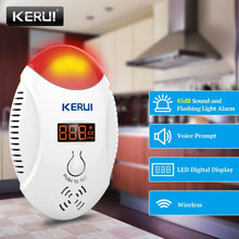 Load image into Gallery viewer, KERUI LED Digital Display Carbon Monoxide Detectors Voice Strobe Home Security Safety CO Gas Carbon Alarm Detector Sensor Alarm - shopsatang.com