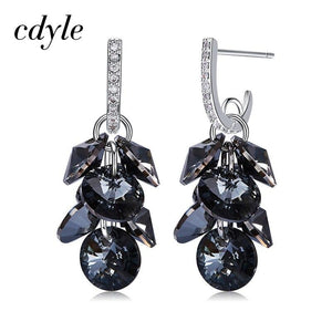 Cdyle Vintage Austrian Rhinestone Boucle D'oreille Earring with Crystal from Swarovski Bijoux Earrings Women Jewelry Wholesale
