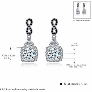 Black Awn Classic 925 Sterling Silver Fine Jewelry Trendy Engagement Earrings for Women Female Wedding Earrings  TT152