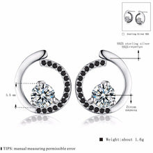 Load image into Gallery viewer, Genuine 925 Sterling Silver Fine Jewelry Trendy Engagement Stud Earrings for Women Bijoux Female Earring T011